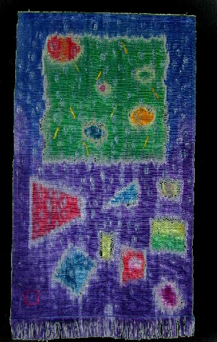 Colorful tapestry by Lynne Caldwell