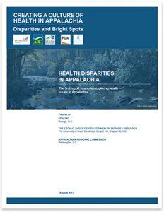 Health Disparities in Appalachia Report Cover