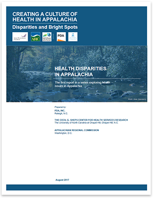 Health Disparities in Appalachia Report Cover