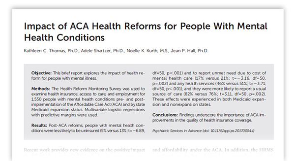 Access To Mental Health Care Has Increased Under The Affordable Care
