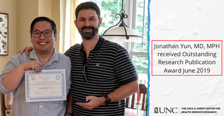 Jonathan-Yun-MD-MPH-received-Outstanding-Research-Publication-Award-June-2019