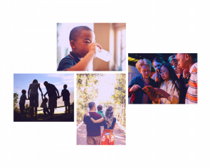 Collage of children and adolescents